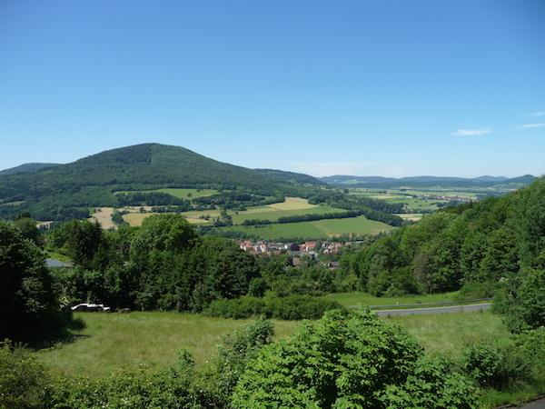 Rhön Panoramablick Bergblick Ferienwohnung